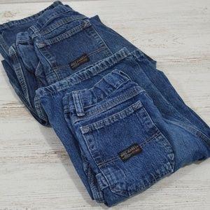 LOT of 2 Boys Wrangler Cargo Jeans 14Slim